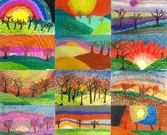 ART with Mrs. A: Fourth Grade Autumn Landscapes