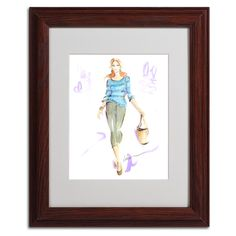 Springtime Stroll by Jennifer Lilya Matted Framed Painting Print