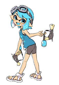 [Splatoon] Squid friends by Splatoon Games, Splatoon Squid, Splatoon 2 Art, Pretty Art, Cute Art, Lolis Neko, Squid Girl, Chibi, Anime Furry