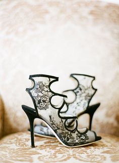 These shoes are works of art!! | Nadia Hung Photography | Black Lace