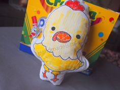DoodleIts  Doodle It  Rooster  Washable Softie  by HandmadeBits4u