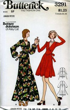 gold country girls: Betsey Johnson For Butterick - Part Three