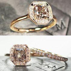 1.33 carat champagne diamond ring. chincharmaloney.com