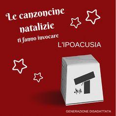 Le canzoncine natalizie ci fanno invocare l'ipoacusia.  #natale #christmas #canzoni #rosso #red #disagio #ipoacusia #cinismo #umorismo #sarcasmo