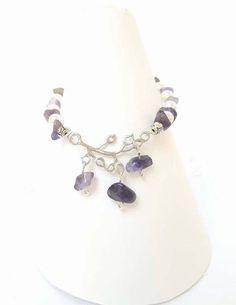 Amethyst Braceletnatural gemstone beadsTibetan by DelabudCreations Shop My, Amethyst, Healing, Charmed, Etsy Shop, Jewellery, Gemstones, Trending Outfits, Unique Jewelry