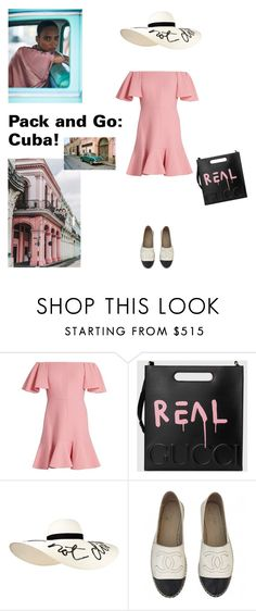 """""""Pack and Go: Cuba!"""" by sarah-who ❤ liked on Polyvore featuring Valentino, Gucci, Eugenia Kim, Chanel, contestentry, Packandgo and cuba"""