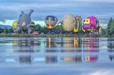 Balloons 🎈on lake Rotoroa Festival 2016, Hot Air Balloon, Hamilton, New Zealand, Mount Rushmore, Reflection, Balloons, Instagram Posts, Travel