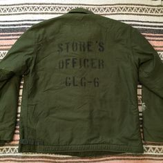 Vintage US Navy A-2 Deck Jacket with Full Back Stencil Size 42-44