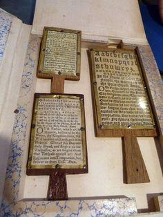 Hornbooks for Puritan Unit