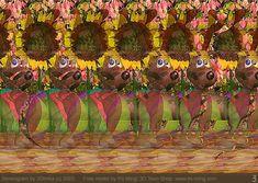 Stereogram by 3Dimka: Xmas dreams. Tags: dog, ball, sunflower, xmas, christmas, deer, hidden 3D picture (SIRDS)