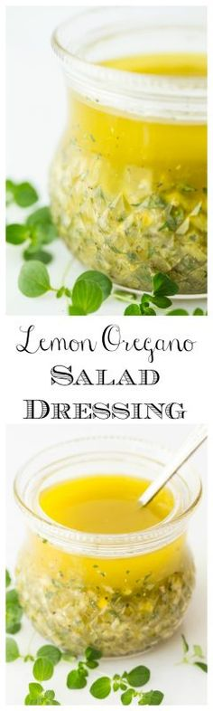Lemon Oregano Salad Dressing - Lemon Oregano Salad Dressing - with bright, fresh lemon flavor, this dressing is delicious on just about any salad but it's also wonderful on grilled chicken, shrimp and pork, roasted veggies, steamed potatoes...