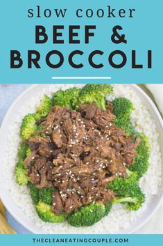 This Healthy Slow Cooker Beef and Broccoli is a delicious, paleo meal made in your crockpot or stovetop. Naturally whole30 and gluten free it has a delicious sauce that no one would ever know is clean eating! This recipe uses no cornstarch and is perfect for meal prep! Slow Cooker Beef Broccoli, Healthy Beef And Broccoli, Healthy Slow Cooker, Healthy Gluten Free Recipes, Healthy Crockpot Recipes, Lunch Recipes, Healthy Dinner Recipes, Clean Eating Guide, Easy Clean Eating Recipes