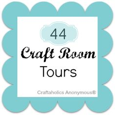 HUGE list of craft room tours! So many different sizes, styles, and decor and SO MANY IDEAS! Excellent resource!