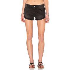 Current/Elliott The Gam Short Denim ($198) ❤ liked on Polyvore featuring shorts, jean shorts, denim shorts, frayed denim shorts, short shorts and frayed shorts