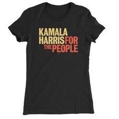 Official Kamala Harris Online Store People Logo, Cut Tees, Kamala Harris, Unisex Fashion, White Tees, Cotton Tee, Black Women, Fashion Outfits, T Shirts For Women