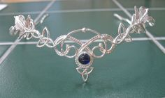 Celtic Headpiece Renaissance Circlet with Gemstone by Camias