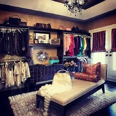 Turn your spare bedroom into a guest bedroom? No! A dream closet! Caleb would not go for this BUT WE WILL NEED IT FO SHO