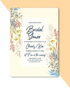 Floral Watercolor, Bridal Shower, Wedding Invitations, Bride, Art, Shower Party, Wedding Bride, Art Background, Bridal