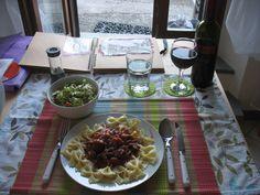Pasta per la cena in Camporgiano