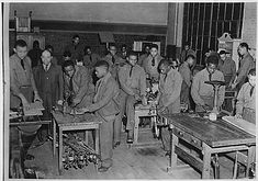 1933 - Civilian Conservation Corps, Third Corps Area: Richmond, Virginia, Co. 1372 and 1375 - cabinet making class at Armstrong Night School
