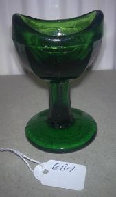 Vintage Unmarked Green Glass Stem Eye Bath Wash 8 Panel Circa 1940s EB11 £14 #FollowVintage