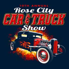 Rose City Car and Truck Show || KEN YOUNG CO || rose city, thomasville, georgia, car show, truck show, t-shirt design, shirt design ideas, inspiration, fire, vintage car, classic cars, collector cars, vehicles