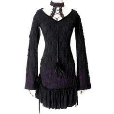 Moonspell korte kanten jurk zwart/paars - Gothic metal - S - Punk Rave