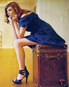 .She is a real dressy woman, classy and sophisticated in anything she wears