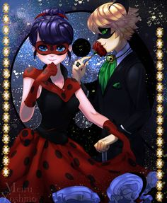 Ladybug and Cat Noir in their masquerade in the sparkling stars of the night from Miraculous Ladybug and Cat Noir Cat Noir And Ladybug Comics, Masquerade Ball Party, Ladybug Crafts, Sparkling Stars, Miraculous Ladybug Anime, French Cartoons, My Back Hurts, Bugaboo, The Villain