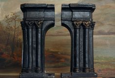 Early 1900s Arch Bookends, Cast Iron