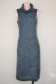 Charlotte Russe Charcoal Gray Wool Like Turtleneck Long Dress size M S #CharlotteRusse #Maxi #WeartoWork