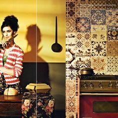 Papel de parede Azulejos Antigos virou celeb!  www.istickonline.com
