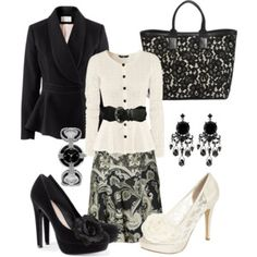 Don't Matter if it's Black or White #Fashion very sharp outfit