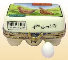 6 Eggs Limoges Box