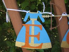Brave Merida Dress and Bow and Arrow Name Banner by TwinMomMade, $20.00