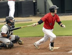 Kannapolis Intimidators' catcher Brett Austin is off to a hot start with the bat. The former N.C State standout began the season 12-for-25, including three triples.