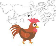Bonecos da Fazenda com moldes Quiet Book Templates, Quiet Book Patterns, Felt Animal Patterns, Stuffed Animal Patterns, Machine Embroidery Applique, Applique Patterns, Farm Animal Party, Farm Quilt, Farm Crafts