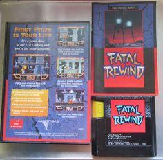 Fatal Rewind (Sega Genesis) - Manual, Game, Case