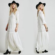 Bohemian Embroidered maxi dress |                             Bohemian Embroideried maxi dress Dresses Length: Floor-LengthNeckline: V | Primary View | Sassy Posh