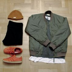 Outfitgrid - Wood Wood jacket / Nudie sweater & hat / H&M tee / Edwin jeans / adidas Topanga shoes