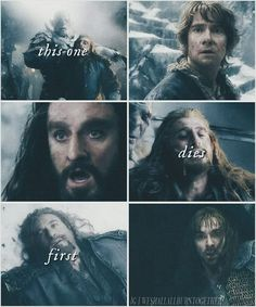 :'( this is so sad! Why am I even pinning it? I think Fili's death was the most shocking, and sudden. I didn't expect or want him to die so soon!