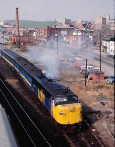 VIA 6788, Montreal section, Oct 1986. Ebay scan. Locomotive, Sudbury Canada, Via Rail, Electric Train, Rocky Mountains, Montreal, Old School, Diesel, The Unit