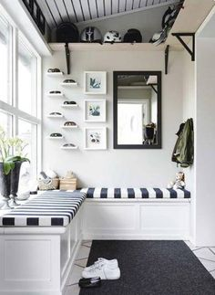 Overhead shelves