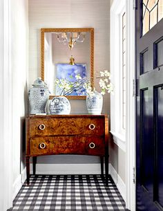 Old furniture is perfect for repurposing as entryway storage. A vintage desk, dresser, or armoire near the front door collects everyday items and serves as a conversation piece. #entryway #entrywaydecor #smallentryway #entrywaywall #bhg Entryway Storage, Living Room Storage, Entryway Decor, Storage Spaces, Entryway Ideas, Small Entryways, Classic Home Decor, Types Of Furniture, Teen Girl Bedrooms