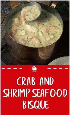 Crab and Shrimp Seafood Bisque – 99easyrecipes Seafood Stew, Seafood Dishes, Seafood Recipes, Soup Recipes, Cooking Recipes, Crab And Shrimp Bisque Recipe, Bisque Soup, Crab Bisque, Soups