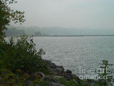 A Rainy Lake Ontario Shoreline Fine Art Print - Barbara McNeil