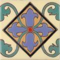 Mexican Tile - - ON SALE - Almeria 5 Border Malibu Ceramic Tile