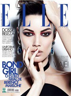 Bérénice Marlohe, a nova Bond Girl, é capa da ELLE Brasil de novembro. | foto REPRODUÇÃO