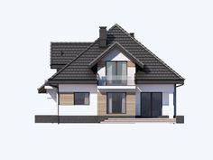Projekt domu Opałek III N 2G - Projekty domów Dominanta Modern Houses, Home Fashion, Gazebo, Outdoor Structures, Cabin, Mansions, House Styles, Home Decor, Opal