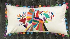 Cojin tenango bordado a mano #otomi Cushion handmade